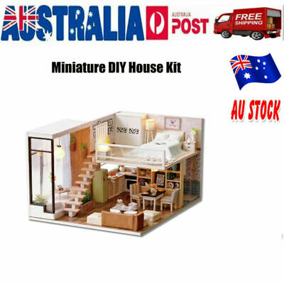 DIY Doll House For Barbie Large Wooden Play Dollhouse Mansion Furniture Girls