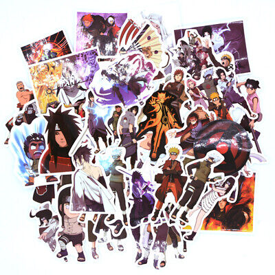 51pcs/set Japan Anime Naruto Stickers For Computer Phone Laptop Fridge Decal