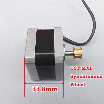 NEMA17 Stepper Motor 1.8 Degree 2-phase 4-wire Synchronous Pulley For 3D Printer
