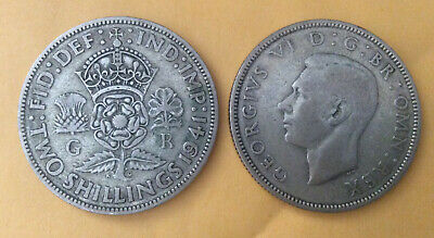 Silver Florin  Two Shilling George Vi Coin Choice Of Year 1937 To 1946