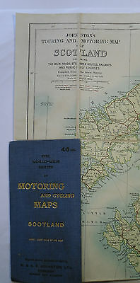 1905 Johnston's Touring and Motoring Map of Scotland - 8 miles to 1 inch