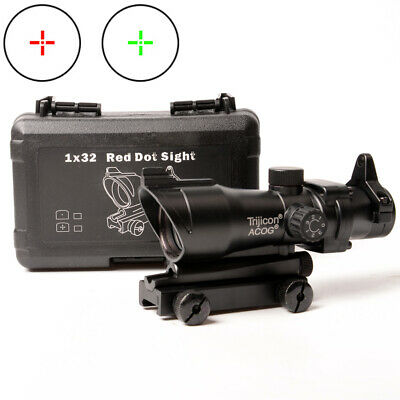 1x32 ACOG Rifle Scope Red/Green Mil Dot Sight for Airsoft FULL Scope
