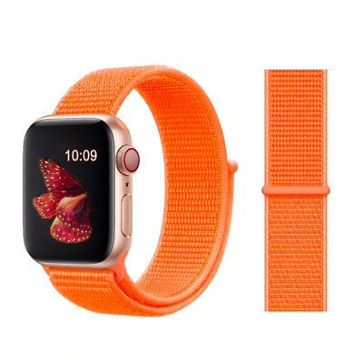 cinturino apple watch in NYLON 42/44mm Arancione