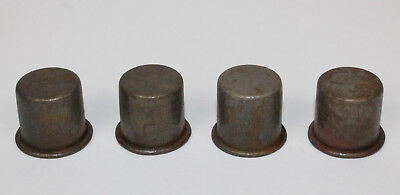 4 Vintage Style Metal Spout Dust Caps For Master Oil Bottle Spouts
