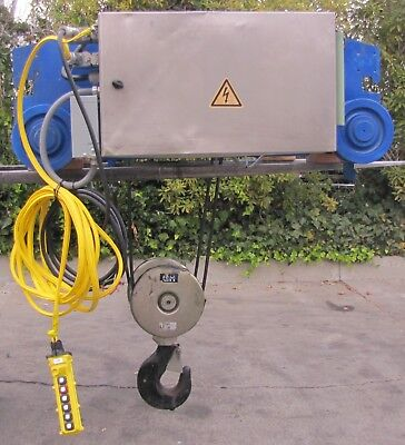 2009 GH 11 Ton Wire Rope Electric Hoist Crane & Trolley 22,000 Max Lift 480V 3