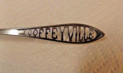 Vintage Sterling Silver Spoon Coffeyville Intricate Handle Design Marked D & B