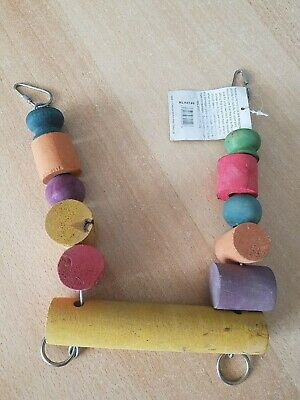 Nature Line Woden Bird Toy chain slightly tarnished