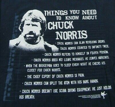 f53a6dd466 Things You Need To Know About CHUCK NORRIS Funny Blue SS T Shirt Size L