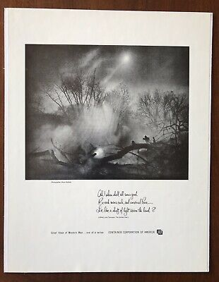 Vintage Advertising Print Wynn Bullock Photograph with Tennyson Quote CCA