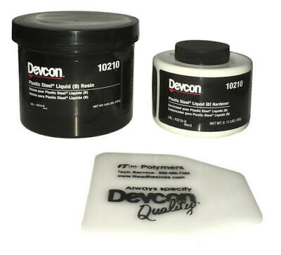 Devcon Plastic Steel-filled Liquid (B) Epoxy, 1 LB, Resin + Hardener + Mixer