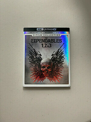 Expendables Trilogy 3 Film Collection 4K UHD Blu-Ray w/ Digital & Slipcover NEW