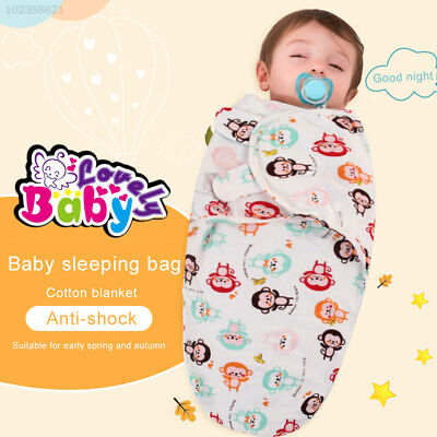 AD55 5 Colors Blanket Wrap Baby Care Secure Safe Baby Sleeping Bag Swaddle Wrap