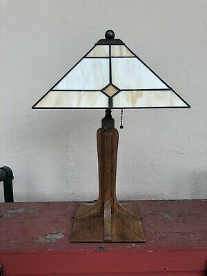 STICKLEY Mission Cherry Arts & Crafts Table Lamp