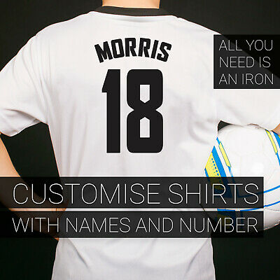 Player Name and Numbers Iron on Transfer Vinyl Personalise your own Footy Shirts