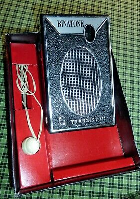 Radio vintage transistor AM BINATONE sixties tsf clean works