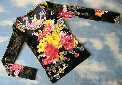 T-Shirt bluse vintage 90's JUST CAVALLI made in Italy TG.S NEW! Rare