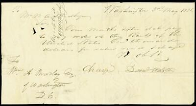 Daniel Webster - Manuscript Document Double Signed 05/03/1838