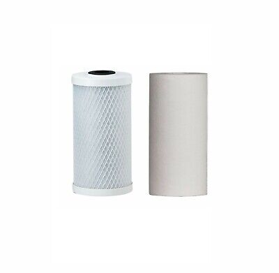 "10"" x 4.5"" Whole House Big Blue Water Filter Cartridges Twin Pack 10Mic"