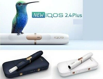 Iqos 2.4 plus (holder & charger) in Navy Bluetooth/Vibration *New* *Sealed*
