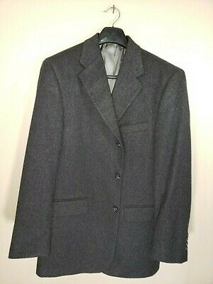 Bill Blass Mens Size 40R 100% Pure Cahsmere Solid Gray 3 Button BlazerSport Coat