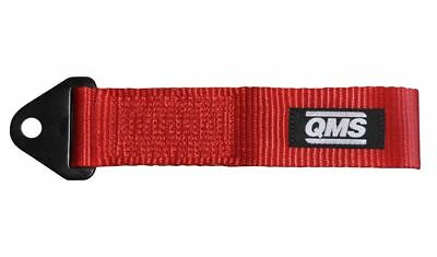 """QMS Racing Tow Pull Rope Towing Strap Loop Bumper Hook Universal RED 2"""" 270 mm"""