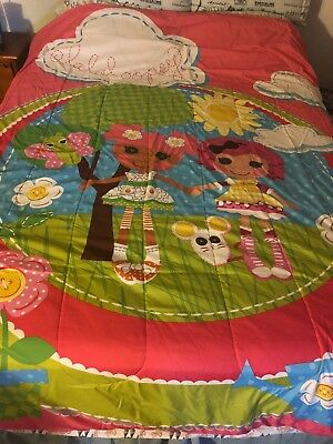 RARE Lalaloopsy Comforter Set Reversible W/ Fitted Sheet, Sheet And Pillowcase