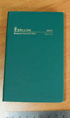 Diary Financial Year 2019/20  Small Pocket Week View Collins 35M7 Flex PVC GREEN