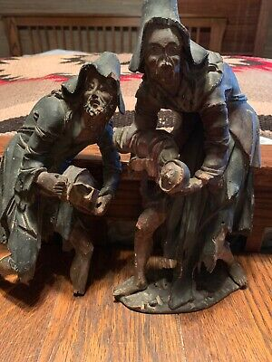 Rare Antique Hand Carved Wooden Figures Black Forest