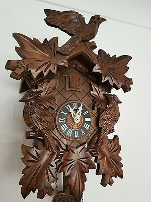 STUNNING  BLACK FOREST CUCKOO CLOCK /switch off/  Fully  servised  !!Very  clean
