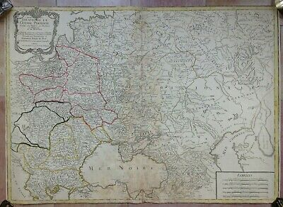 POLAND UKRAINE LITUANIA CRIMEA DATED 1788 by MONDHARE UNUSUAL LARGE ENGRAVED MAP