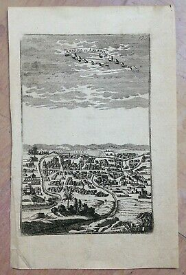 IRAN ARDUEIL or ARDABIL 1683 ALAIN MANESSON MALLET ANTIQUE ENGRAVED VIEW 17TH C