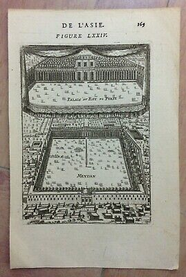 Iran Meydan Palace Of The King 1683 Alain Manesson Mallet Antique View 17Th C