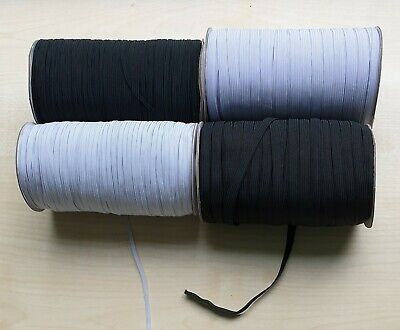 Flat Elastic Cord Sewing Black White 4mm 8mm