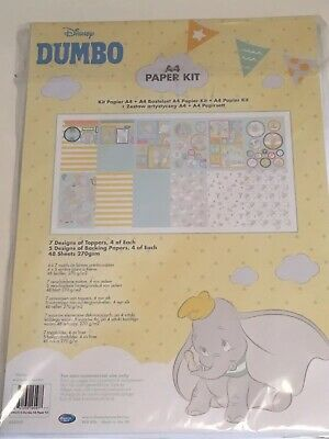 Disney A4 Paper Kit Original Dumbo Backgrounds, Die Cut character Sheets, Ect