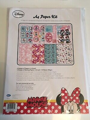Disney Paper A4 Paper Kit Minnie Mouse Backgrounds, Die Cut character Sheets Ect
