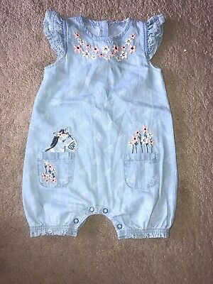 Girls George Dungaree Outfit Age 6-9 Months