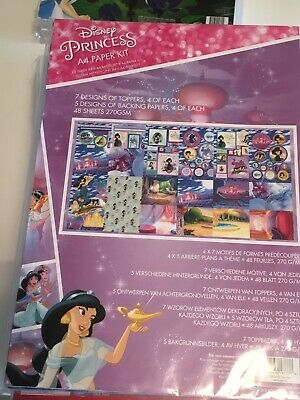 Disney A4 Paper Kit Jasmine Backgrounds, Die Cut character Sheets Ect