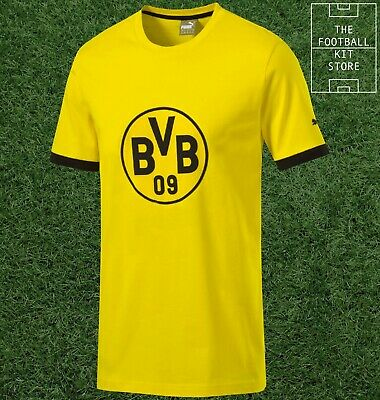 Borussia Dortmund T-Shirt - Official Puma BVB Football Tee - Mens - All Sizes