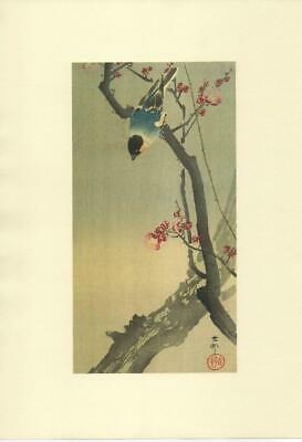 Japanese Reproduction Woodblock Print Crow #2 by Ohara Koson on Parchment Paper.