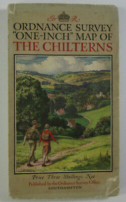 1932 OS Ordnance Survey Special Sheet Popular Edition One-Inch Map The Chilterns