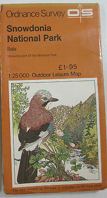 1978 Old Vintage OS Ordnance Survey Outdoor Leisure 1:25000 Map Snowdonia - Bala