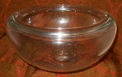 Wonderful Antique Free Blown Fish Bowl With Rolled Edge And Ground Pontil