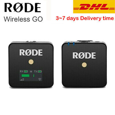 Rode Wireless GO Compact Wireless Microphone 2.4GHz Clip-On Compact Camera Vlog