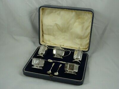 BOXED solid silver CONDIMENT SET 1931