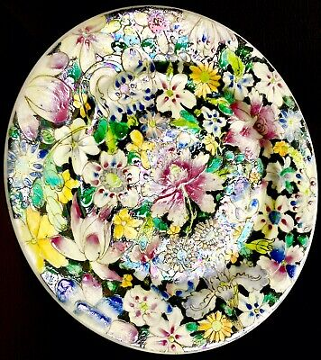 """Superb Chinese Qing Dynasty (1910) Hand Painted 8.5""""/22cm Ceramic Plate (400g)"""
