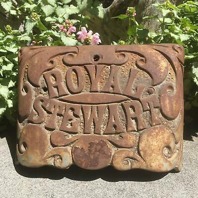 Rusty Rustic Antique Royal Stewart Stove Part 1930? Cast Iron Vintage