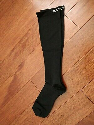 Rative Unisex Moderate Compression Knee High Socks Solid Black 3 pairs