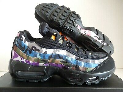 timeless design db8a6 326c4 Nike Air Max 95 Erdl Party Black-Multi Color Sz 10.5  Ar4473-001
