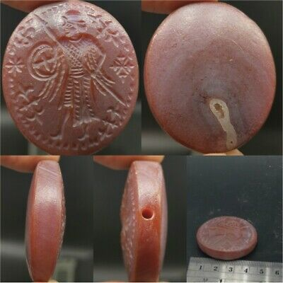 Old Wonderful Emperor Agate intaglio Seal Stone Lovely Bead   # 23