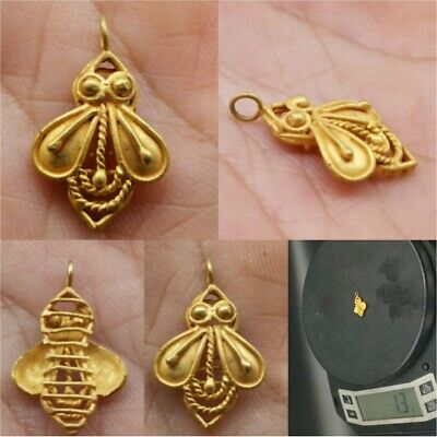Antique High carat Gold Fly Bee Beautiful Old Amulet Pendant   # 23